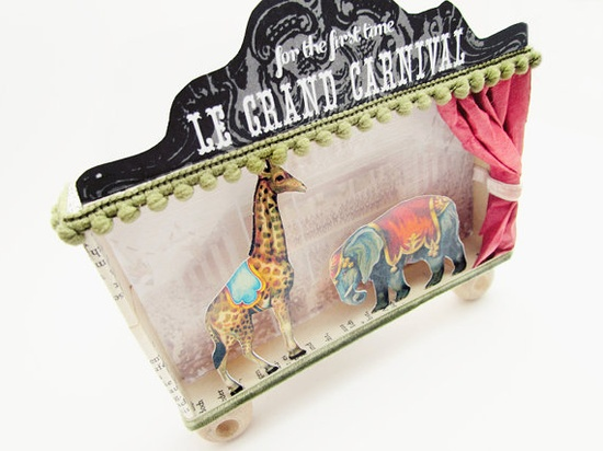 3D diorama shadow box frame The Giraffe and the by ILaBoom on Etsy