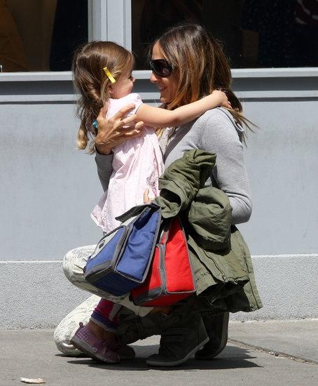 Sarah Jessica Parker hugged her daughter Tabitha.