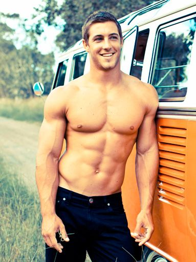 Uh....... Kaine Lawton: Australian rugby player (and named one of the country's most-eligible bachelors).