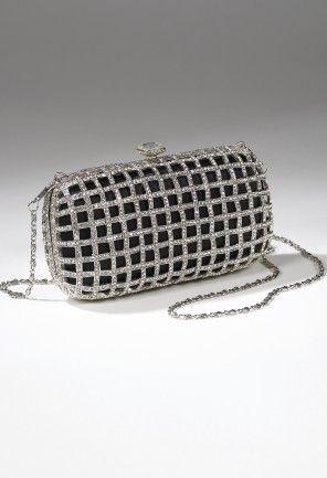 Handbags - Metal and Rhinestone Cage Handbag from Camille La Vie