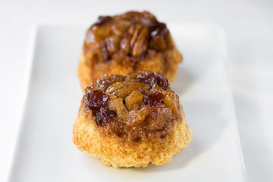 Pear & Cranberry Upside Down Muffins.