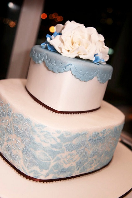 Lacey Heart Wedding Cake