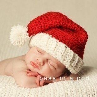 Santa Hat for Christmas Newborn Baby