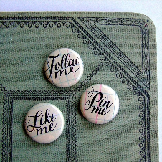 k is for calligraphy hand lettered social media buttons