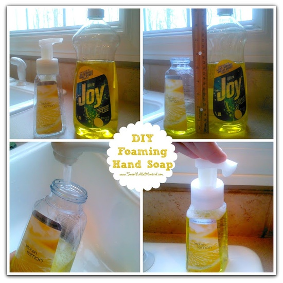 DIY Foaming Hand-Soap - So easy to make!  Never run out of hand soap again.