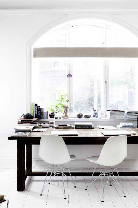 black and white workspace #webdesign #creative #workspace #office #design #designer