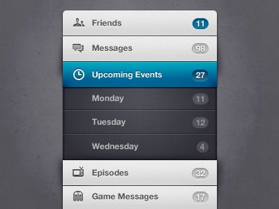 25 Examples of Menu UI Design