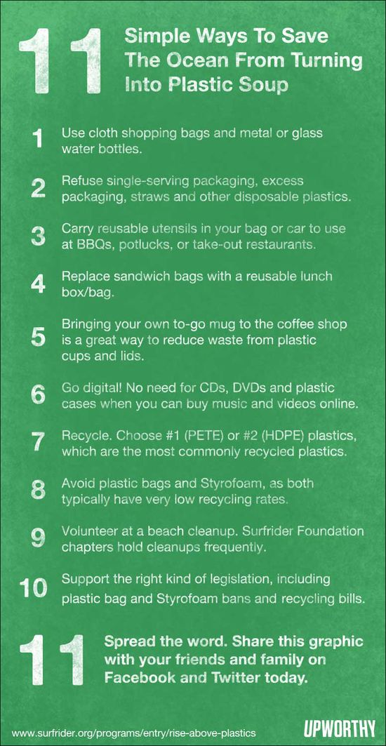 11 simple ways to save the ocean from turning into plastic soup