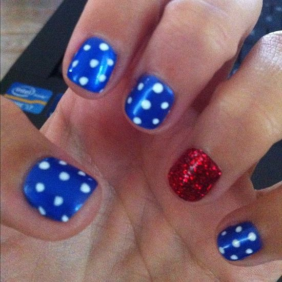 ash_sparks' festive tips. Show us your 4th of July-inspired nails! Tag your pic #SephoraNailspotting to be featured on our social sites.