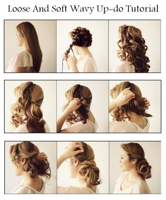Loose And Soft Wavy Up-do Tutorial