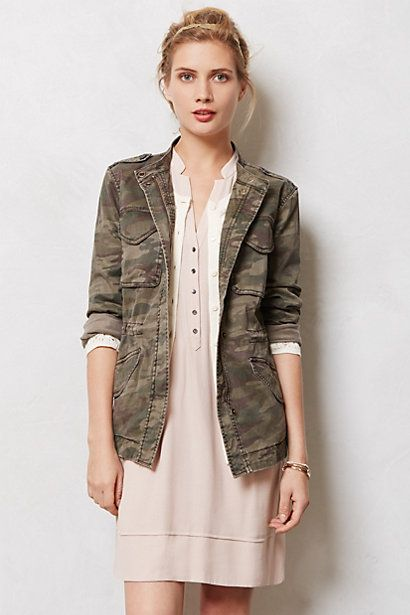Riley Camo Jacket #anthropologie cuuuute
