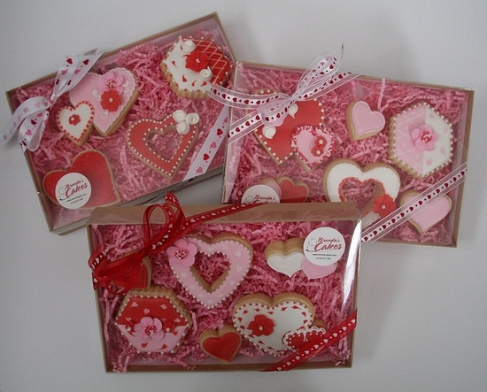 Valentine's cookies all packaged up! :