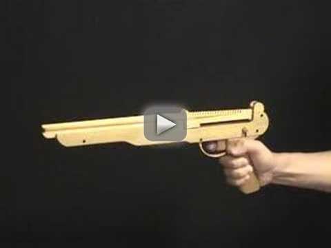 Semi & 3 Burst, 27 rounds Rubber Band Assault Hand Gun /OGG CRAFT - handmade 27rounds handgun. selective fire: semi auto & 3