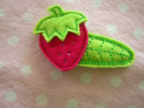 strawberry hair accessory