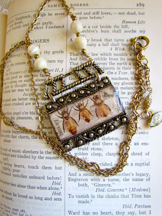 Honey Bees necklace.