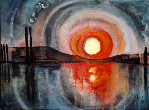 "Saatchi Online Artist: Mo Kelly; Acrylic, Painting ""Calm So Deep"""