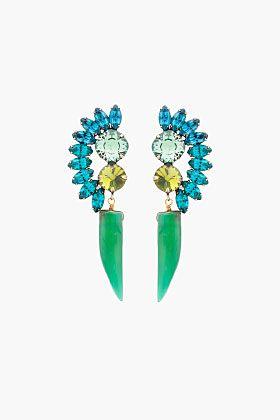 Dannijo green bertie earrings $320