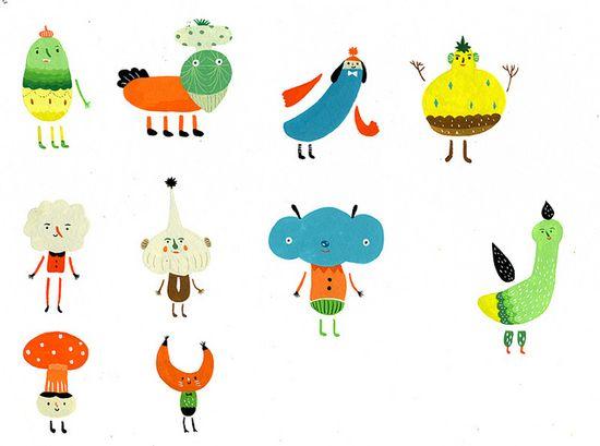 Character Design - 1 by ??? Inca Pan, via Flickr