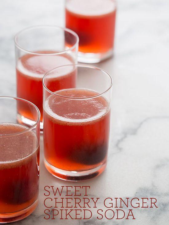 Sweet Cherry Ginger Soda