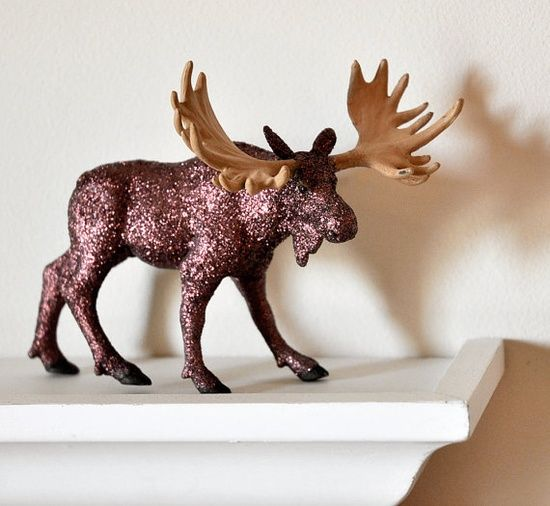 Glitter Woodland Moose Rustic Decor #home decorating before and after