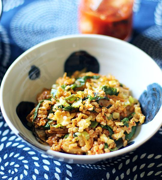 Kimchi Fried Rice with Extra Greens by thekitchn #Kimchi #Fried_Rice