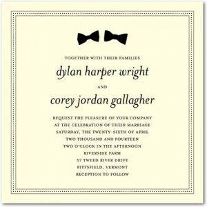 2013 Invitation Trends - Gay Wedding Invitations