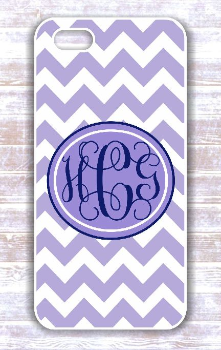 Monogrammed chevron Iphone case