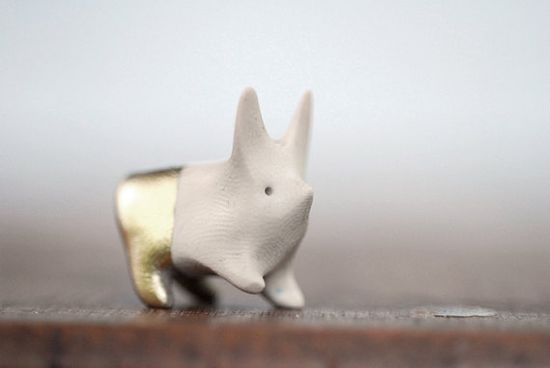 bunny with gold pants.