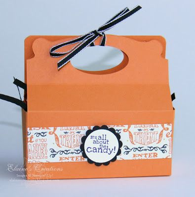 Stampin' Up! by Elaine's Creations: Halloween Candy Tote with Pop n Cuts die
