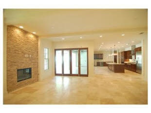 Travertine floor interior stone wall