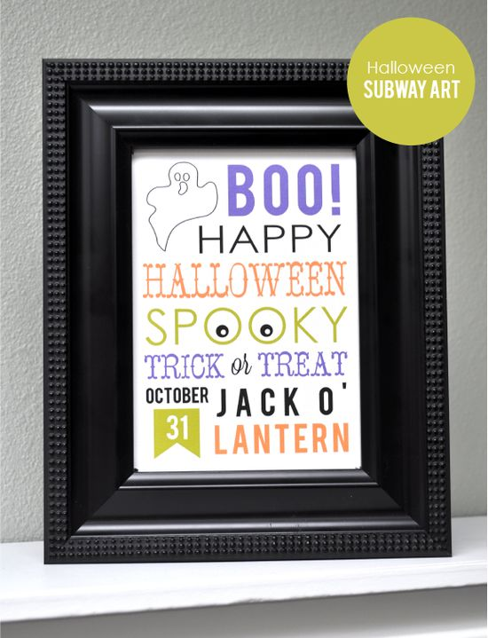 DIY Halloween Subway Art :: Tutorial