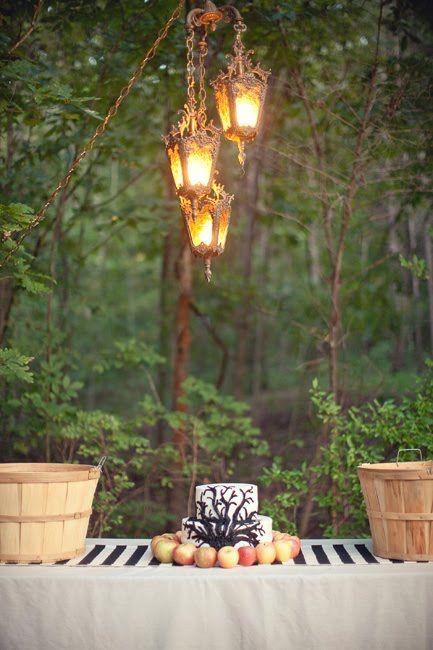 greenery on lanterns