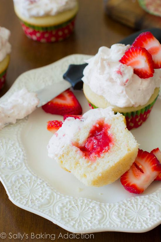 100% Homemade Strawberry Shortcake Cupcakes - these are so easy!