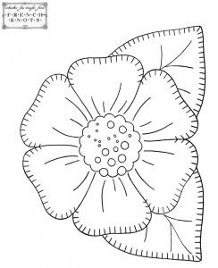 Pretty flower and basket patterns for embroidery and applique