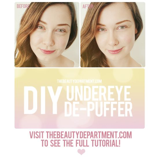 KITCHEN BEAUTICIAN is back! Make your own eye pads and lose your baggage!! Click on the picture for the full tutorial!
