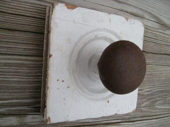 Old door knob as a hook!