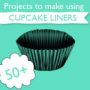 50+ DIY:: Cupcake Liner Paper Crafts !!! From @savedbyloves