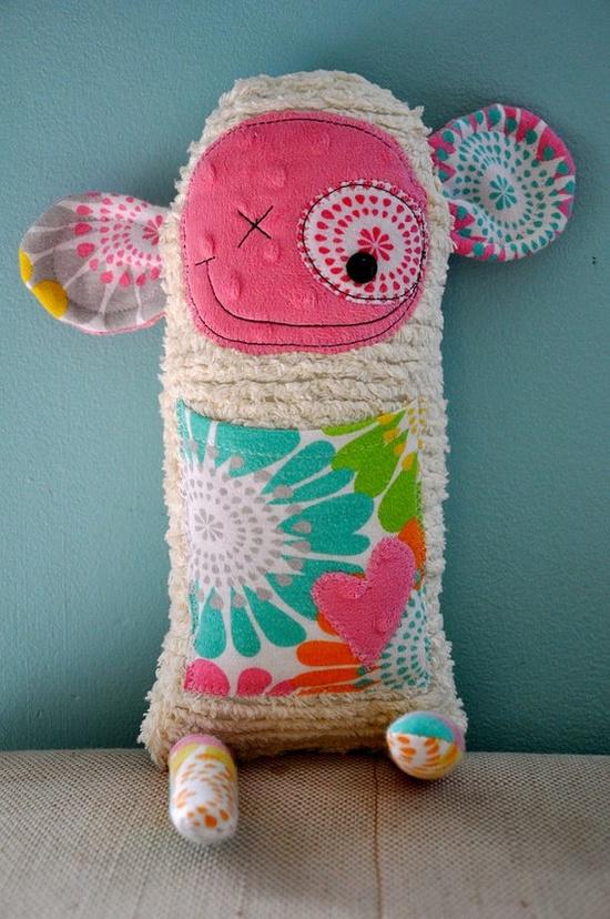 Cute softie    More Scrap Fabric Ideas- Longer Project