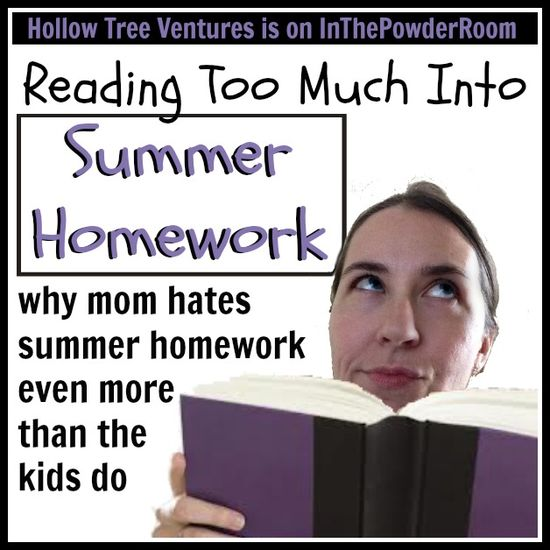 Funny perspective on summer homework - from Mom, who could use a break! #parenting #humor