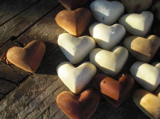 soap heart favors