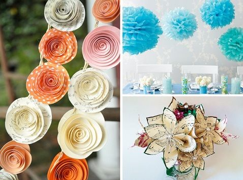 Can you believe these fantastic decor accents are made of paper? #paper #flower #decor #wedding