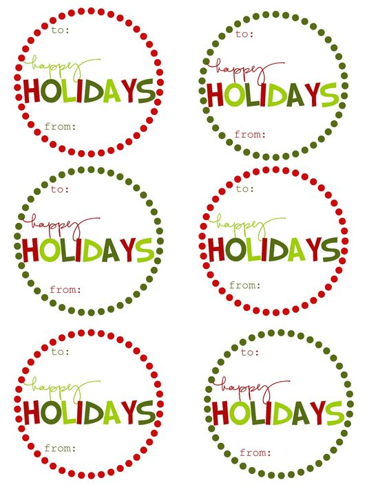 {Free Printable} Christmas Gift Tags