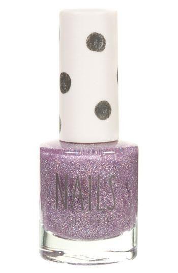 Glitter. Nail polish. Purple. Enough said.