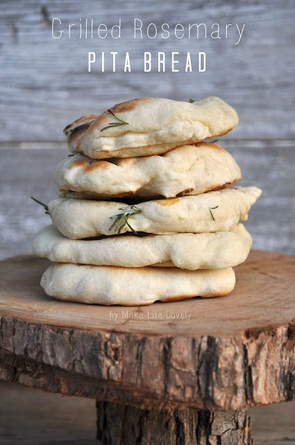 Turn your pita bread into a sweet, savory appetizer with Make Life Lovely's Grilled Rosemary Pita Bread recipe. Now just to find a dipping oil!