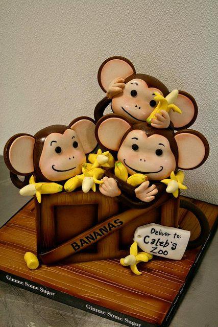 Crate Full of Monkeys Cake