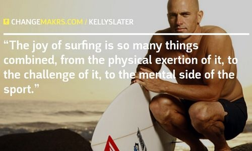 The joy of surfing is so many things combined, from the physical exertion of it