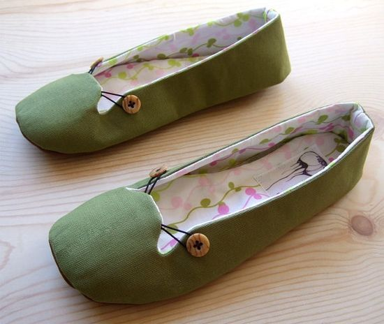 Cute hand made shoes.