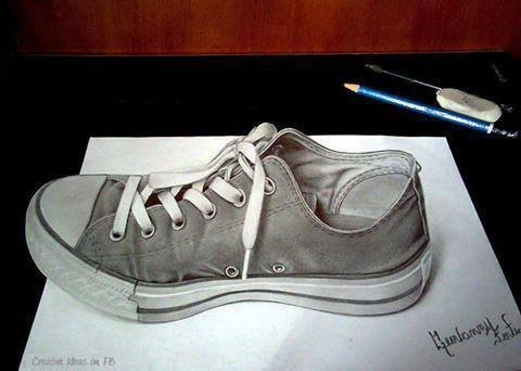 Amazing !    3D art made by pencil !