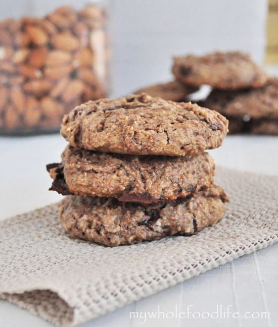 Gluten Free Almond Joy Cookies.  One of my favorite cookie recipes!  It's healthier, vegan and loved by all who try it!