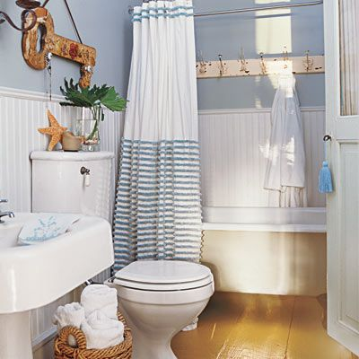 Cottage bathroom. Love the feel of this.